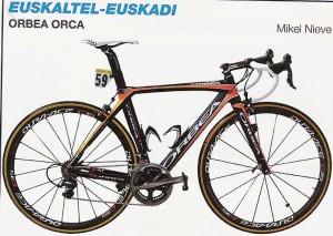 vélo de l' équipe Euskaltel Euskadi