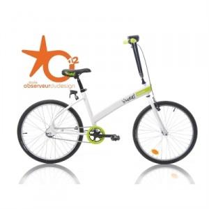 Vélo Décathlon B'cooOl blanc