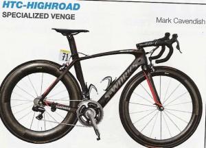 Le vélo équipe HTC HighRoad Specializer Venge
