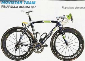 vélo de l' équipe Movistar Team