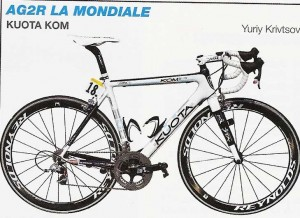 vélo de l' équipe AG2R La Mondiale