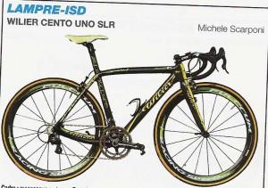 Vélo de  équipe Lampre ISD