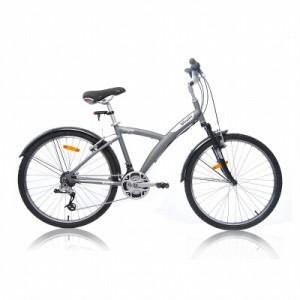 Vélo Décathlon VTC Original 5 gris