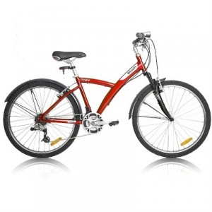 Vélo Décathlon VTC Original  5 rouge